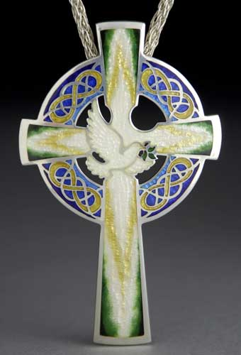 Cross with Dove and Olive Branch